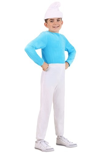 Click Here to buy Kids The Smurfs Smurf Costume from HalloweenCostumes, CDN Funds & Shipping