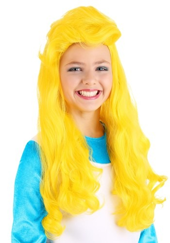 Click Here to buy Girls The Smurfs Smurfette Wig from HalloweenCostumes, CDN Funds & Shipping