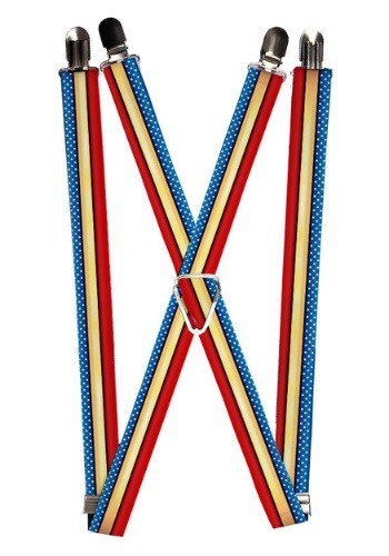 "Wonder Woman Stars and Stripes 1"" Suspenders"