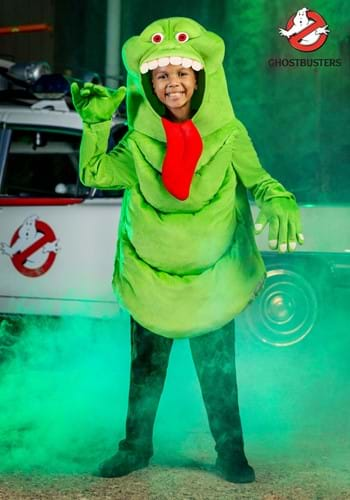 Kids Ghostbusters Slimer Costume Tunic With Gloves