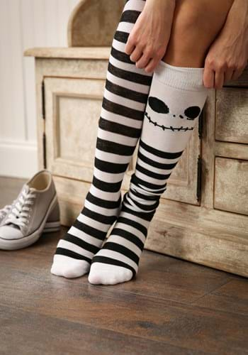 Jack Skellington Over The Knee Socks for Women