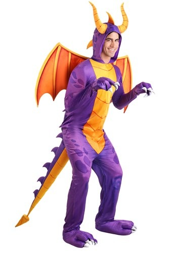 Click Here to buy Spyro the Dragon Unisex Costume Jumpsuit from HalloweenCostumes, CDN Funds & Shipping