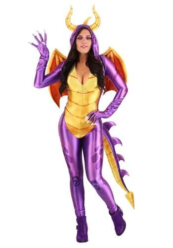 Womens Spyro the Dragon Costume Jumpsuit