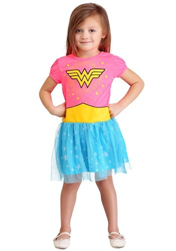 Click Here to buy Girls Wonder Woman Costume Dress from HalloweenCostumes, CDN Funds & Shipping