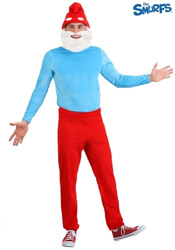 The Smurfs Adult Papa Smurf Costume