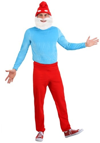 Click Here to buy Adult Smurfs Papa Smurf Costume from HalloweenCostumes, CDN Funds & Shipping