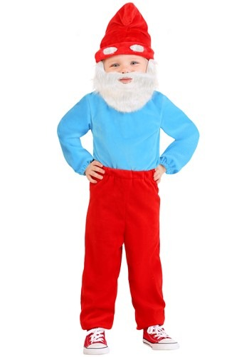 Click Here to buy Toddler Smurfs Papa Smurf Costume from HalloweenCostumes, CDN Funds & Shipping