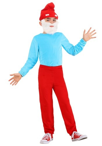 Child The Smurfs Papa Smurf Costume