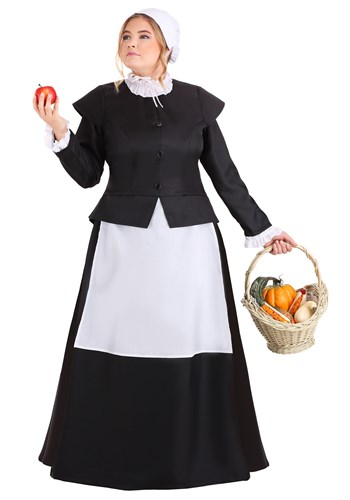 Plus Size Women's Thankful Pilgrim Costume