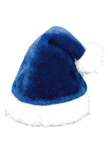 Blue Santa Hat for Adults