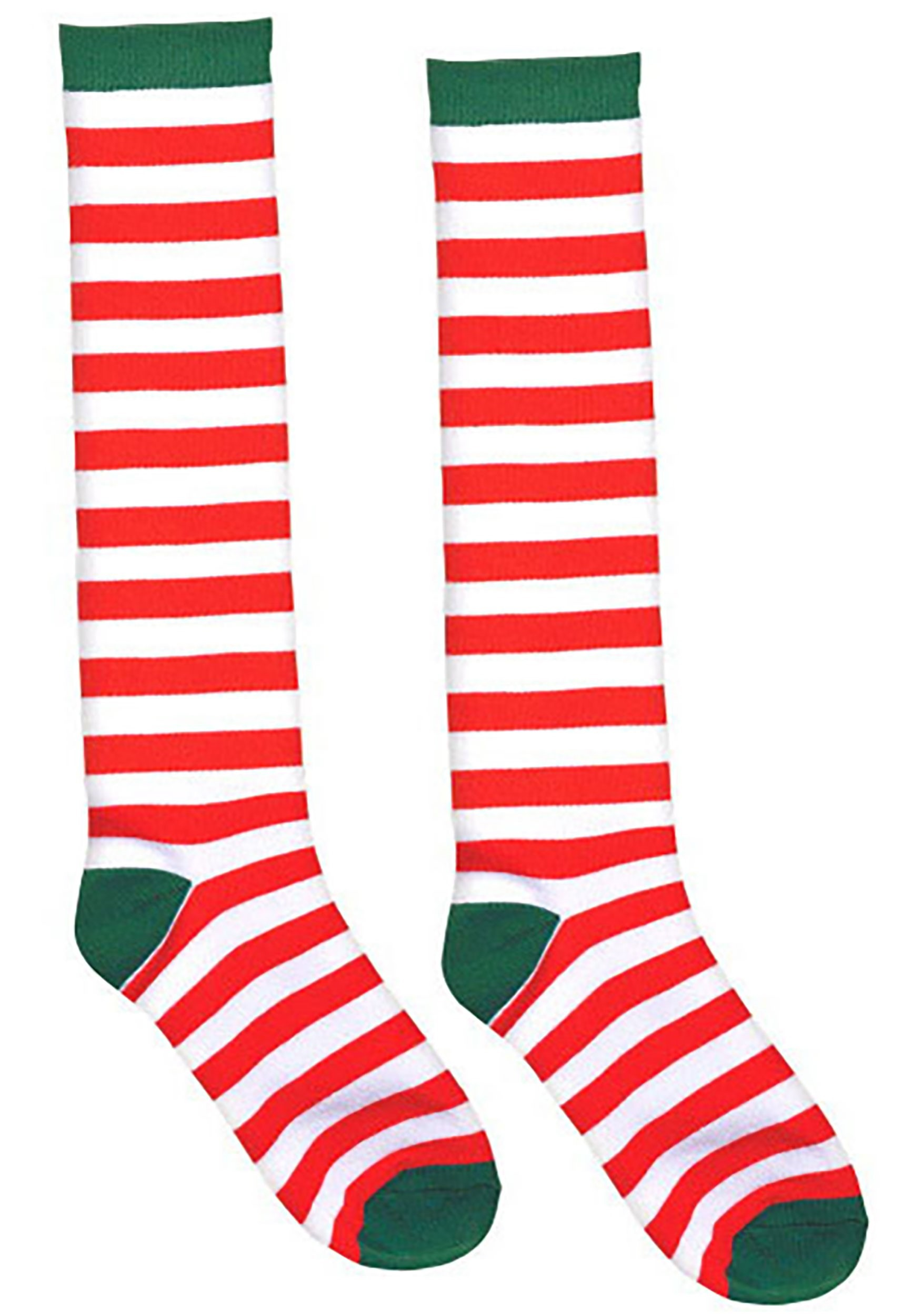 White_and_Red_Striped_Socks_for_Adults