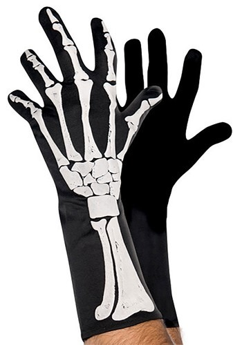 3D Skeleton Gloves for Adults