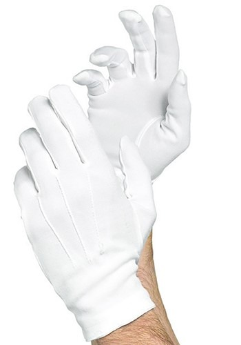 Fancy White Gloves for Men