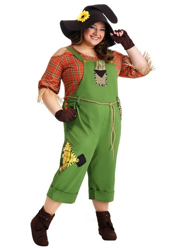 Womens Plus Size Scarecrow Costume