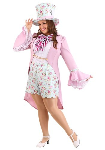 Womens Plus Size Pretty Mad Hatter Costume