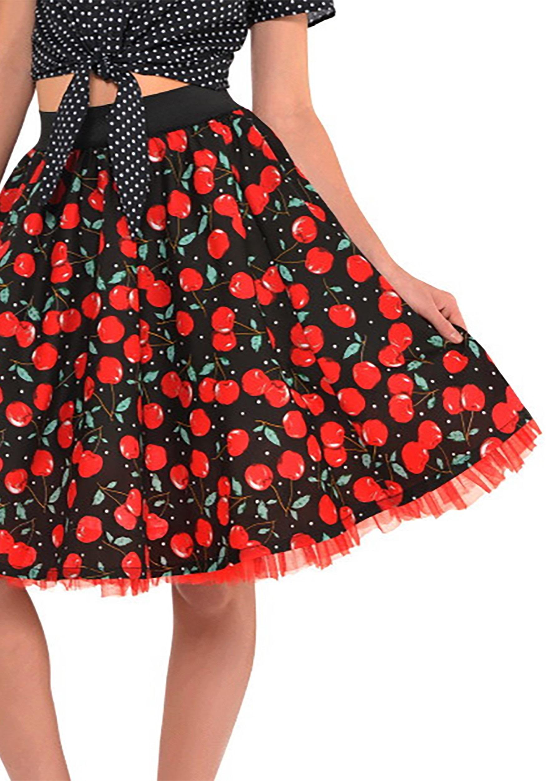 Rockabilly_Cherry_Themed_Skirt