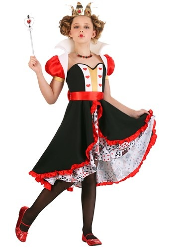 Frilly Queen of Hearts Girls Costume