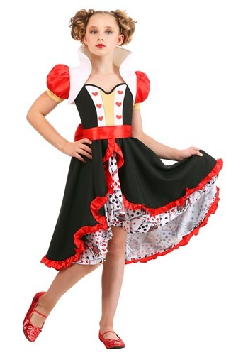 Click Here to buy Frilly Queen of Hearts Girls Costume from HalloweenCostumes, CDN Funds & Shipping