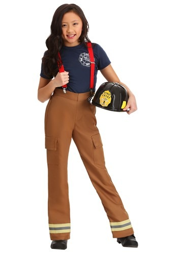 Fire Captain Girls Costume
