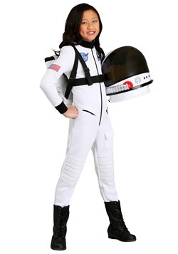 White Astronaut Costume Girl's