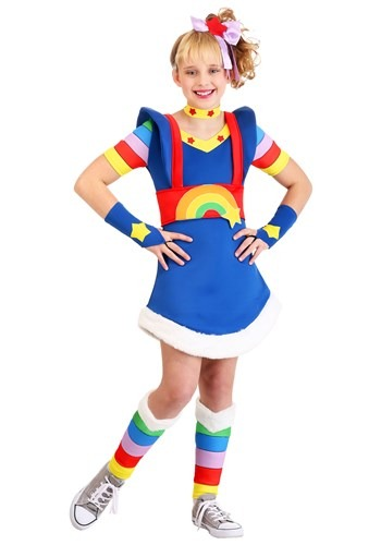 Click Here to buy Girls Rainbow Brite Costume from HalloweenCostumes, CDN Funds & Shipping