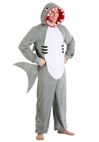 Click Here to buy Shark Adult Onesie from HalloweenCostumes, CDN Funds & Shipping