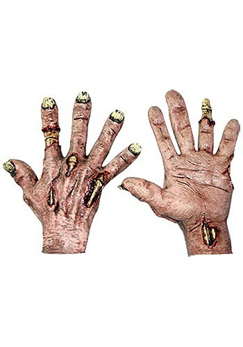 Click Here to buy Zombie Flesh Hands from HalloweenCostumes, CDN Funds & Shipping