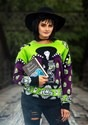 Adult Beetlejuice Lydia Deetz Ugly Halloween Sweater alt2
