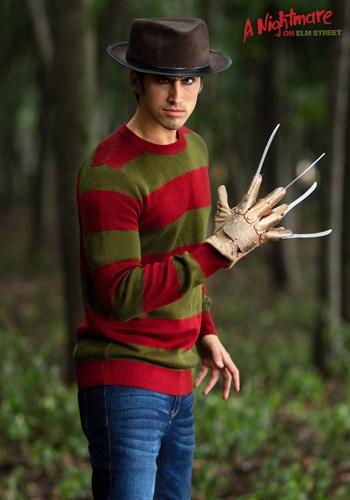 Striped Nightmare on Elm Street Freddy Adult Sweater 1