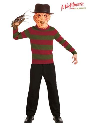 Striped Nightmare on Elm Street Freddy Kids Sweater 1