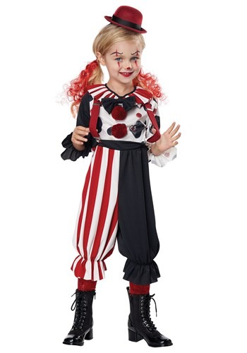 Click Here to buy Creepy Clown Kid Costume for Toddlers from HalloweenCostumes, CDN Funds & Shipping