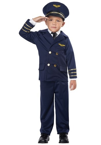 Click Here to buy Pint Size Pilot Costume for Toddlers from HalloweenCostumes, CDN Funds & Shipping