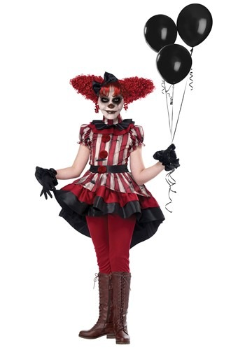 Wicked Clown Costume for Girls