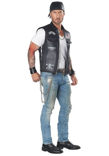 Click Here to buy Adult Biker Vest Costume from HalloweenCostumes, CDN Funds & Shipping