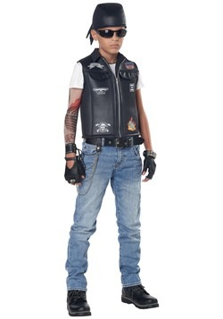 Child Cool Kid Biker Vest Costume
