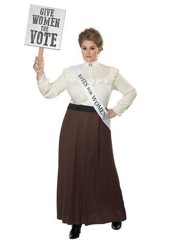 Plus Size English Suffragette Costume for Women
