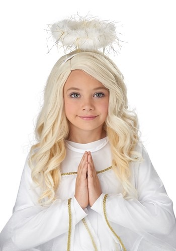 Click Here to buy Guardian Angel Wig for Girls from HalloweenCostumes, CDN Funds & Shipping