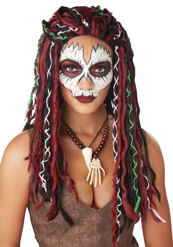 Click Here to buy Voodoo Priestess Wig from HalloweenCostumes, CDN Funds & Shipping