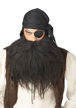 Mens Black Pirate Beard