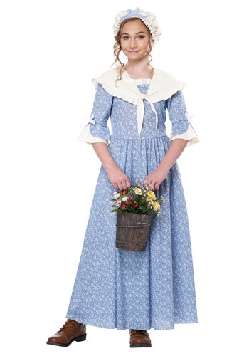 Kid's Colonial Village Girl Costume
