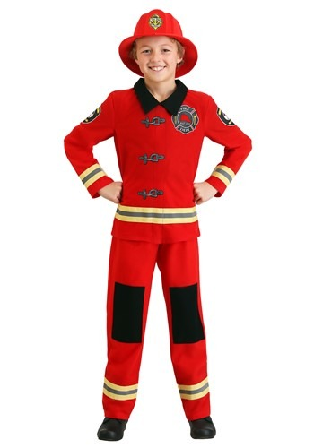 Click Here to buy Friendly Firefighter Kids Costume from HalloweenCostumes, CDN Funds & Shipping