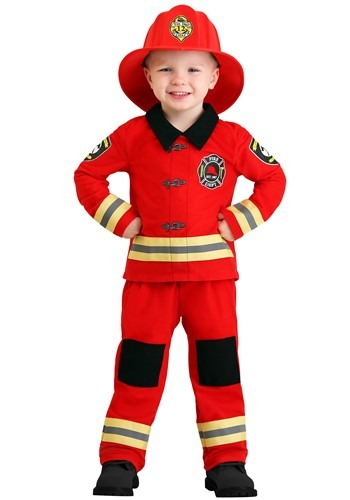 Click Here to buy Friendly Firefighter Costume for Toddlers from HalloweenCostumes, CDN Funds & Shipping