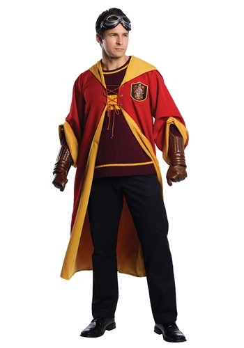 Click Here to buy Harry Potter Gryffindor Quidditch Costume for Adults from HalloweenCostumes, CDN Funds & Shipping