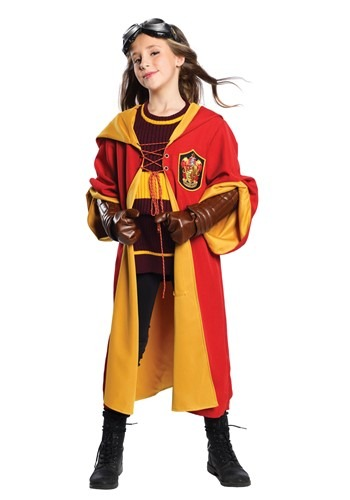 Click Here to buy Harry Potter Kids Gryffindor Quidditch Costume from HalloweenCostumes, CDN Funds & Shipping