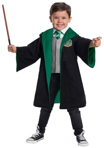Click Here to buy Toddler Harry Potter Slytherin Costume from HalloweenCostumes, CDN Funds & Shipping