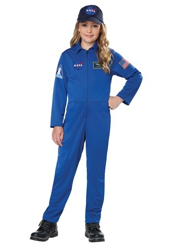 NASA Blue Jumpsuit Costume for Kids