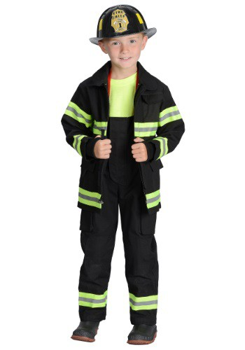 Click Here to buy Boys Black Fireman Costume from HalloweenCostumes, CDN Funds & Shipping