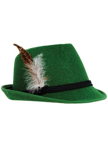 Click Here to buy Mens Deluxe Green German Hat from HalloweenCostumes, CDN Funds & Shipping