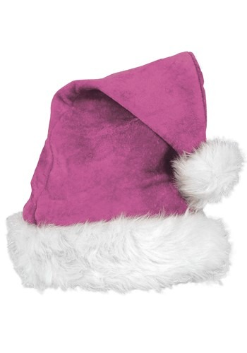 Click Here to buy Pink Velvet Deluxe Santa Hat from HalloweenCostumes, CDN Funds & Shipping