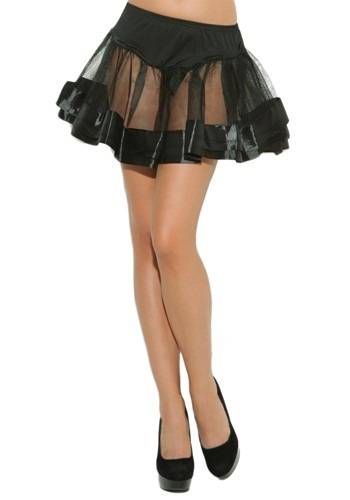 Black Satin Petticoat